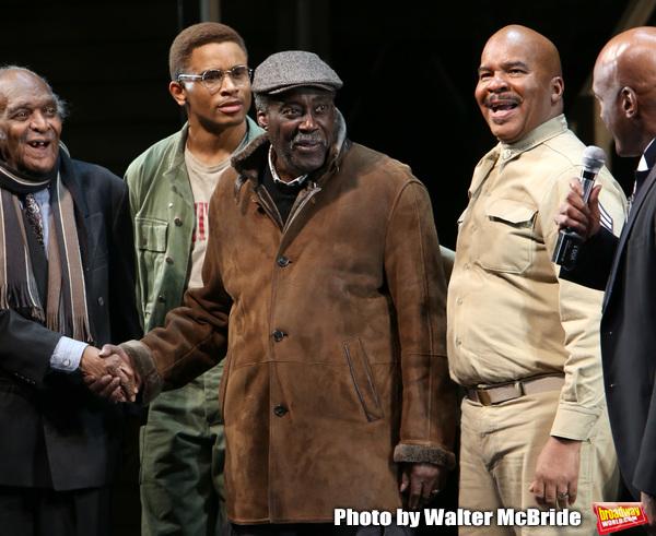 Douglas Turner Ward, Charles Fuller and David Alan Grier with Kenny Leon
