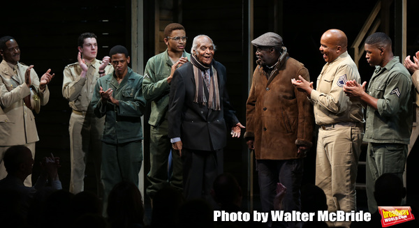 Douglas Turner Ward, Charles Fuller and David Alan Grier with cast Photo