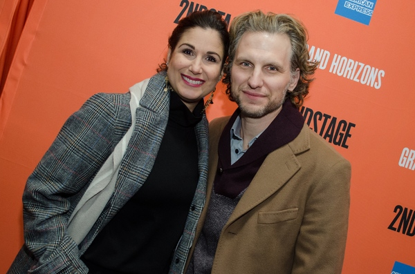 Stephanie J. Block and Sebastian Arcelus Photo