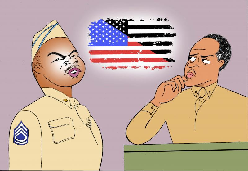 BWW Exclusive: Ken Fallin Draws the Stage - A SOLDIER'S PLAY