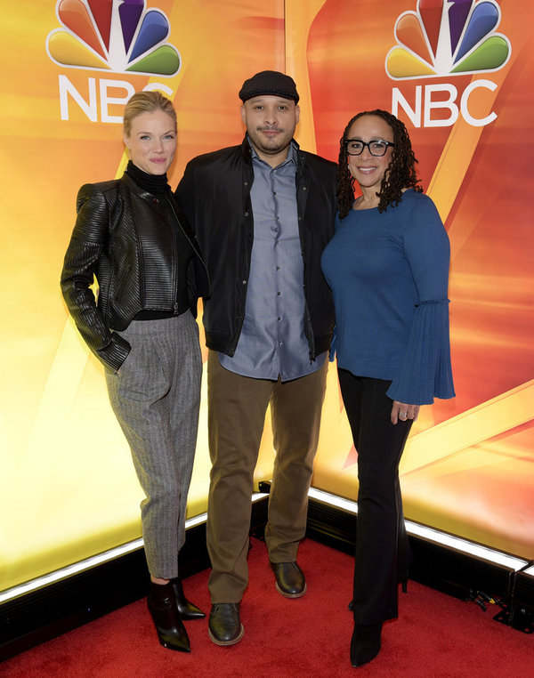 "Tracy Spiridakos, ""Chicago P.D.""on NBC; Joe Minoso, ""Chicago Fire"" on NBC; S. Epatha  Photo"