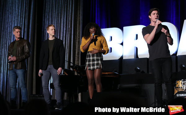 "Sean Allan Krill, Logan Hart, Celia Rose Gooding, Derek Klena  from the ""Jagged Lit Photo"