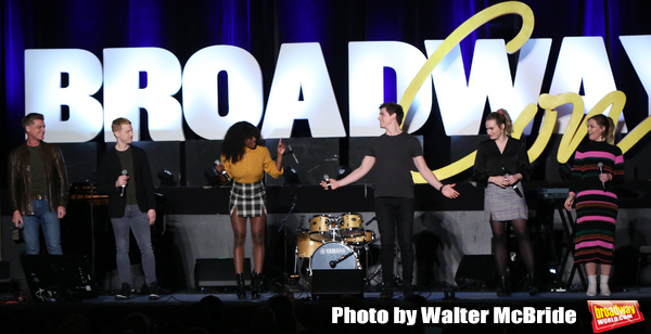 Sean Allan Krill, Logan Hart, Celia Rose Gooding, Derek Klena, Kathryn Gallager and E Photo