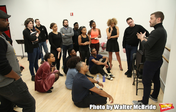 Adam Koch with cast & creative team Photo