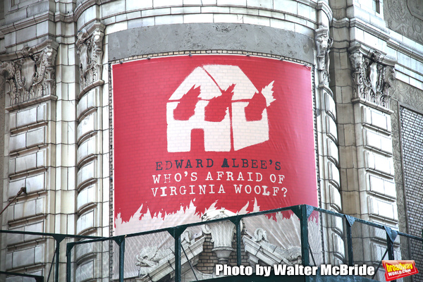 "Theatre Marquee unveiling  for  ""Who's Afraid of Virginia Woolf?"" Starring Laurie Met Photo"