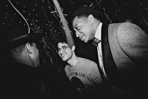 Jeremy Pope, Darren Criss, and Derrick Baskin Photo
