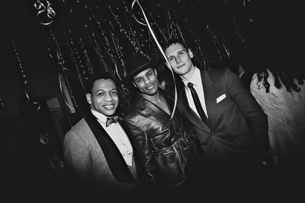 Derrick Baskin, Jeremy Pope, and Cory Michael Smith Photo