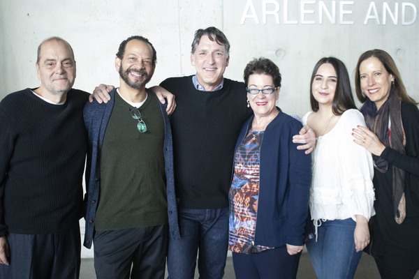 Playwright Eduardo Machado, Robert Jimenez, Liam Torres, director Molly Smith, Heathe Photo