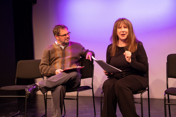 Laraine Newman and Dana Gould. Photo by Justin Wagner. The Pack at Groundlings Theatr Photo