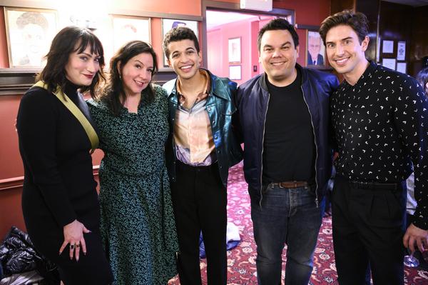Eden Espinosa, Kristen Anderson-Lopez, Jordan Fisher, Bobby Lopez, Nick Adams Photo