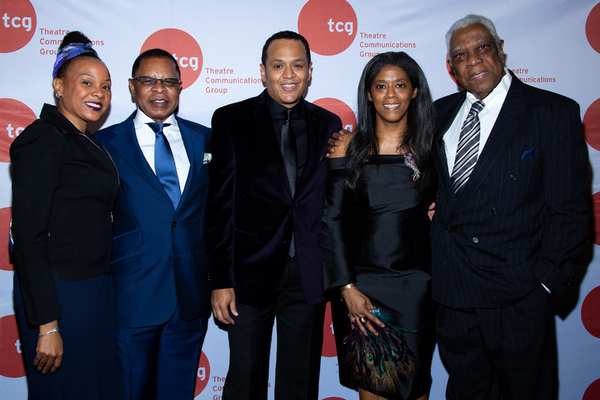 Stephen Byrd, Alia Jones-Harvey, Woodie King Jr., and guests Photo