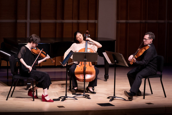 Miranda Cuckson, Daniel Panner and Sophie Shao perform Beethoven''s String Trio, op.  Photo