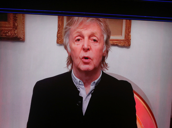 Paul McCartney video message  Photo