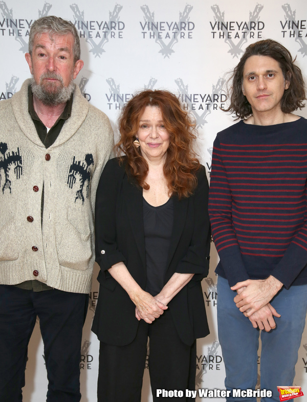 Director Les Waters, actress Deirdre O'Connell and playwright Lucas Hnath Photo