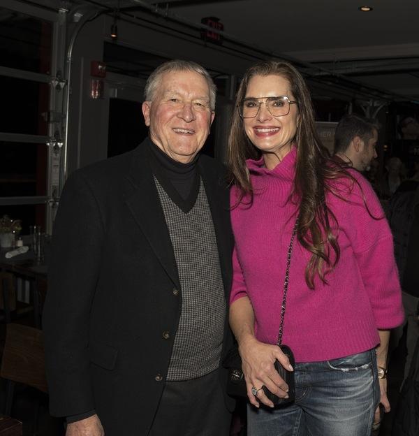 Marvin Woodall, Chairman of board of Bucks County Playhouse, Brooke Shields Photo