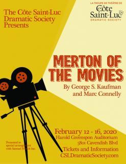 BWW Previews: MERTON OF THE MOVIES  at Cote Saint-Luc Dramatic Society