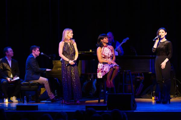 James Wesley, Seth Rudetsky, Kelli O'Hara, Ta'Nika Gibson and Carrie Manolakos  Photo