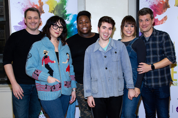 Michael Arden, Eden Espinosa, Alex Newell, Noah Galvin, Jessica Vosk, Stephen Oremus Photo