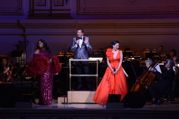 Alex Newell, Steven Reineke and Mandy Gonzalez Photo
