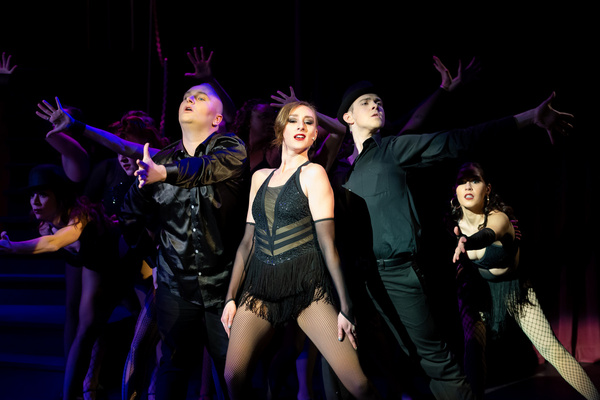 Kate Johnson (Velma Kelly) and the cast of Chicago at the Milburn Stone Theatre, runn Photo