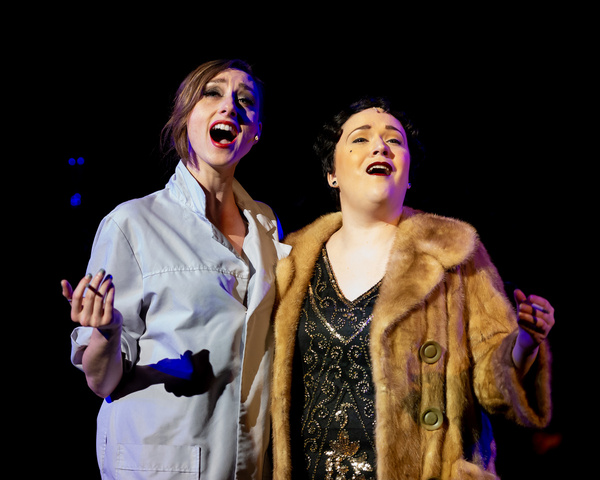 Kate Johnson (Velma Kelly) and Allison Graham (Mama Morton) in Chicago at the Milburn Photo