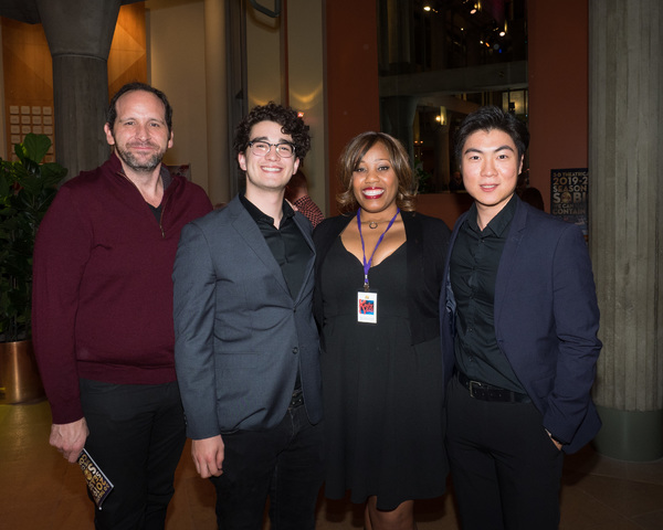 Jonathan David Mesisca, Kevin Matsumoto, and Haechan Timothy Lee with Casting Directo Photo