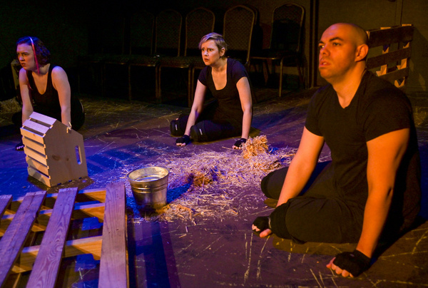 Laura Clare Browne, Erin Cronican and Brandon Walker in The Seeing Place Theater''s A Photo