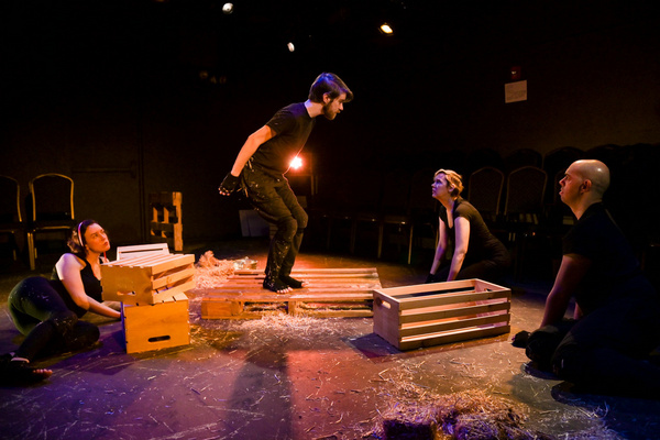 William Ketter, Laura Clare Browne, Erin Cronican and Brandon Walker in The Seeing Pl Photo