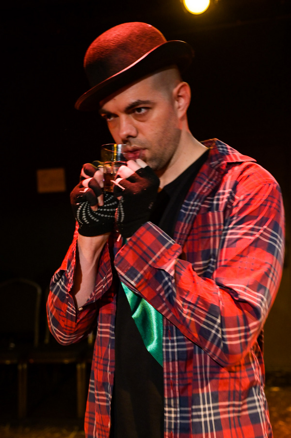 Brandon Walker in The Seeing Place Theater''s ANIMAL FARM.   Photo by Russ Rowland.   Photo