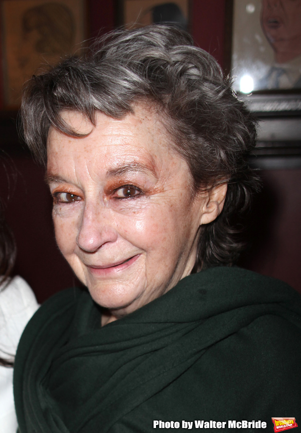 "Dori Berinstein receives the Commercial Theater Institute's Robert Whitehead Award for ""Outstanding Achievement in Commercial Theatre Producing"" at Sardi's Restaurant in New York City. March 10, 2009 pictured:Zoe Caldwell"