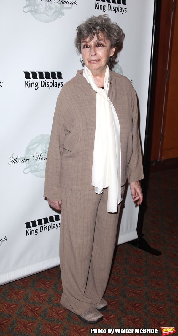 Zoe Caldwell.attending the 2001 Theatre World Awards at the August Wilson Theatre in  Photo