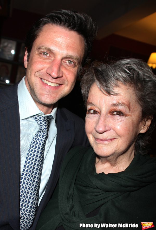 "Dori Berinstein receives the Commercial Theater Institute's Robert Whitehead Award for ""Outstanding Achievement in Commercial Theatre Producing"" at Sardi's Restaurant in New York City. March 10, 2009 pictured: Zoe Caldwell & Raul Esparza"
