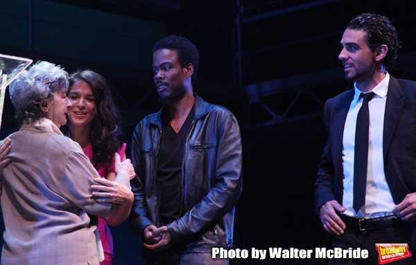 Annabella Sciorra, Zoe Caldwell, Chris Rock & Bobby Cannavale.during the 2001 Theatre Photo