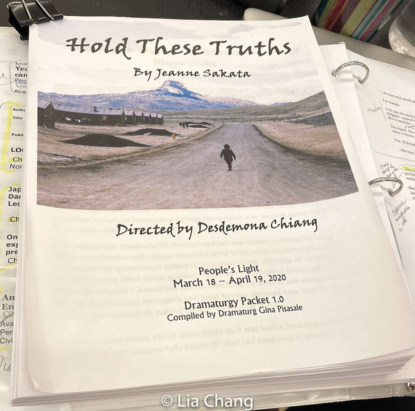 Photo Flash: Steven Eng In Rehearsal For People's Light Production Of Jeanne Sakata's HOLD THESE TRUTHS