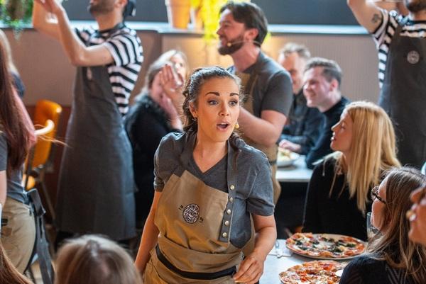Photo Flash: WAITRESS Cast Members Treat PizzaExpress Customers to Surprise Performance