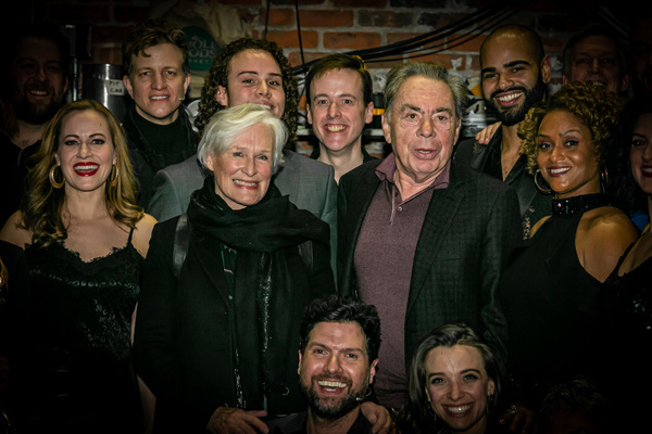 Andrew Lloyd Webber, Glenn Close, and the Company of UNMASKED Photo