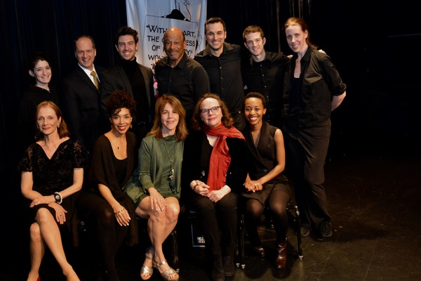 Stage Managers Ingrid Pierson and Andrea Miller join with tonights cast-Daniel Jenkins, Robbie Simpson, Tony D. Head, Mike Smith Rivera, A.J. Shively, Susanna Frazer, Celestine Rae, Kathy Gail MacGowan, Maryann Plunkett and Mirirai Sithole