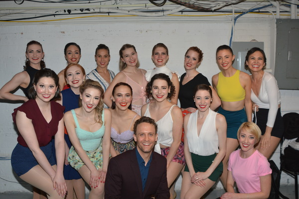 Danny Gardner and the ladies of the Broadway by The Year Dance Troupe that includes-E Photo