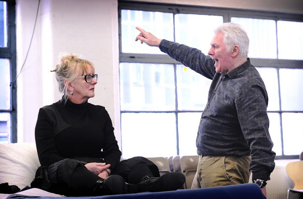 Eithne Browne and John McArdle in rehearsals for Maggie May Photo