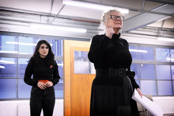 Shireen Farkhoy and Eithne Browne in rehearsals for Maggie May Photo