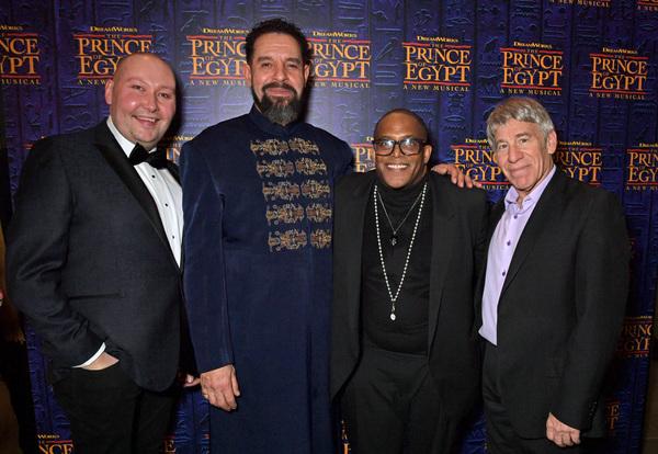 Adam Pearce, Joe Dixon, Choreographer Sean Cheesman and Composer Stephen Schwartz  Photo