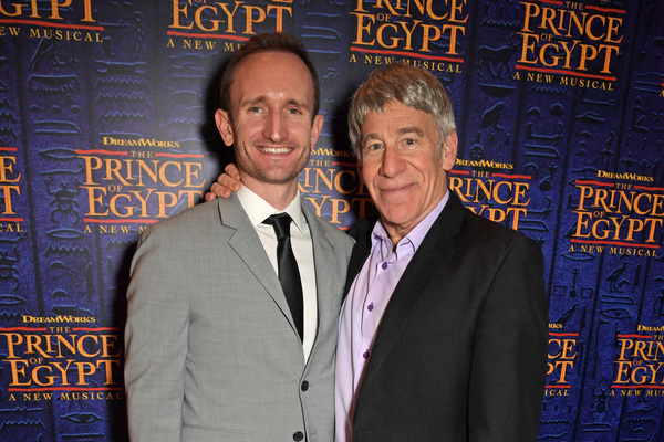 LONDON, ENGLAND - FEBRUARY 25:  Chris Herzberger and Composer Stephen Schwartz attend Photo