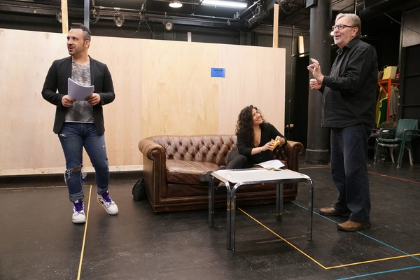 Osh Ghanimah, Nadine Malouf, and director Mark Wing-Davey Photo
