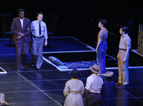 Kyle Scatliffe, Taylor Trensch, Nick Robinson and cast  Photo
