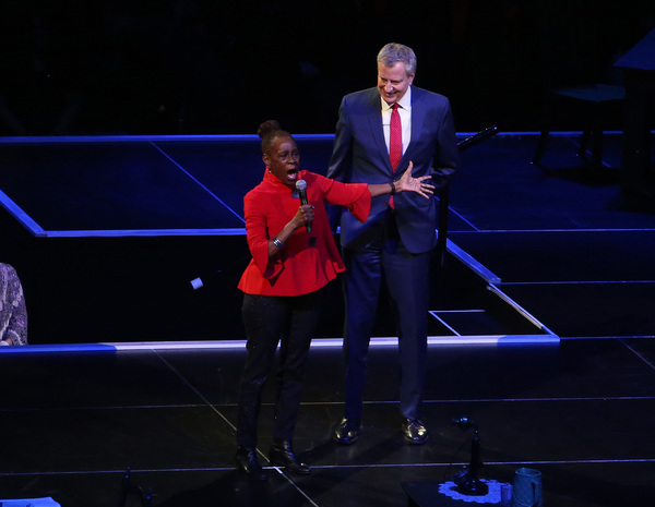 Chirlane McCray and husband NYC Mayor Bill de Blasio
