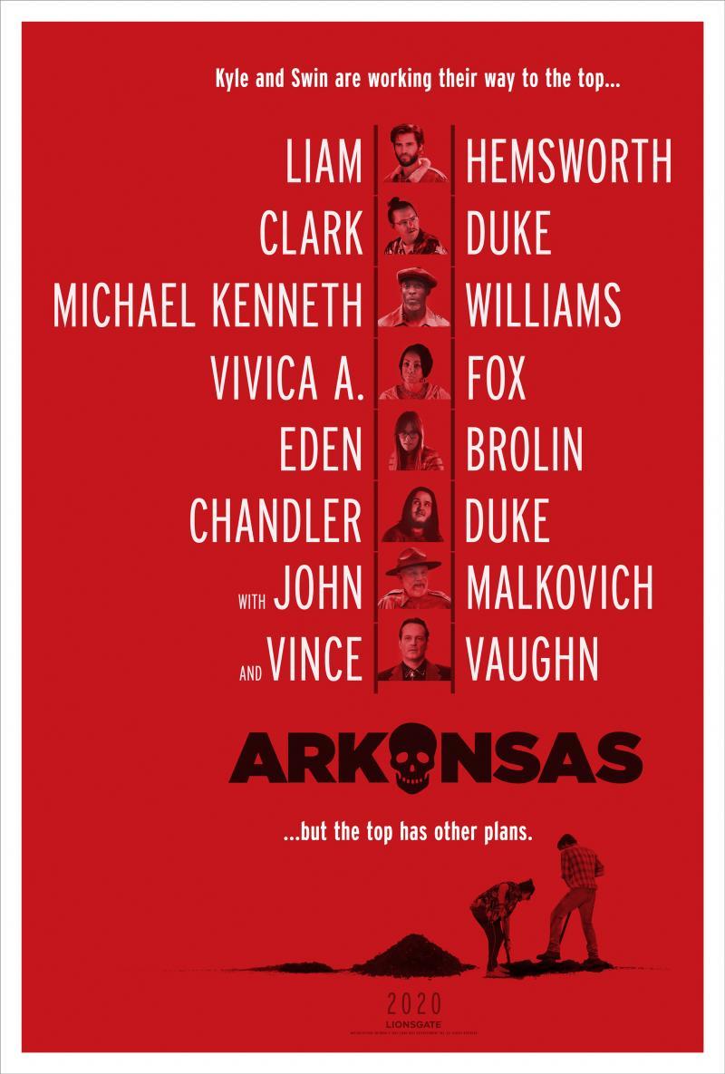 See the Official Teaser Poster for ARKANSAS Starring Liam Hemsworth, Clark Duke, & More!