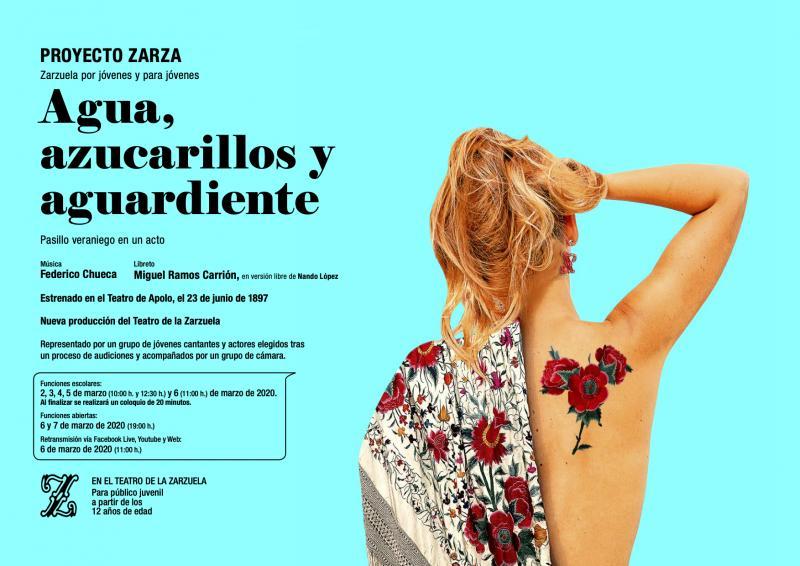 AGUA, AZUCARILLOS Y AGUARDIENTE llega al Teatro de la Zarzuela dentro del proyecto Zarza