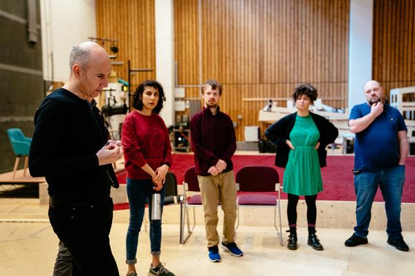 Ian Rickson, Mariam Haque, Christopher John-Slater, Crystal Condie and Daniel Fearn Photo