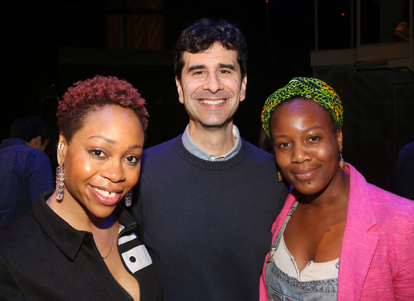 Tamika Lawrence, John Cariani and Anastacia McCleskey