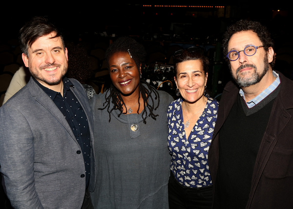 Michael Longhurst, Sharon D. Clarke, Jeanine Tesori and Tony Kushner  Photo